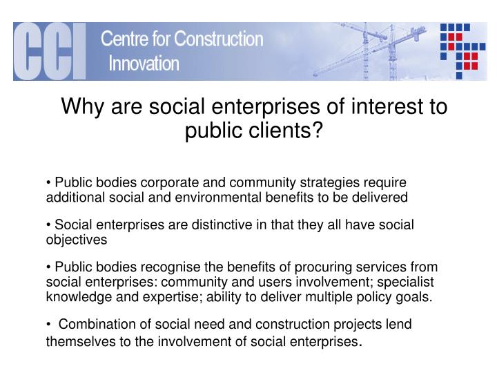 Why are social enterprises of interest to public clients?