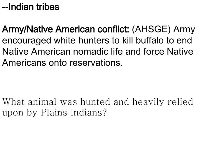 --Indian tribes