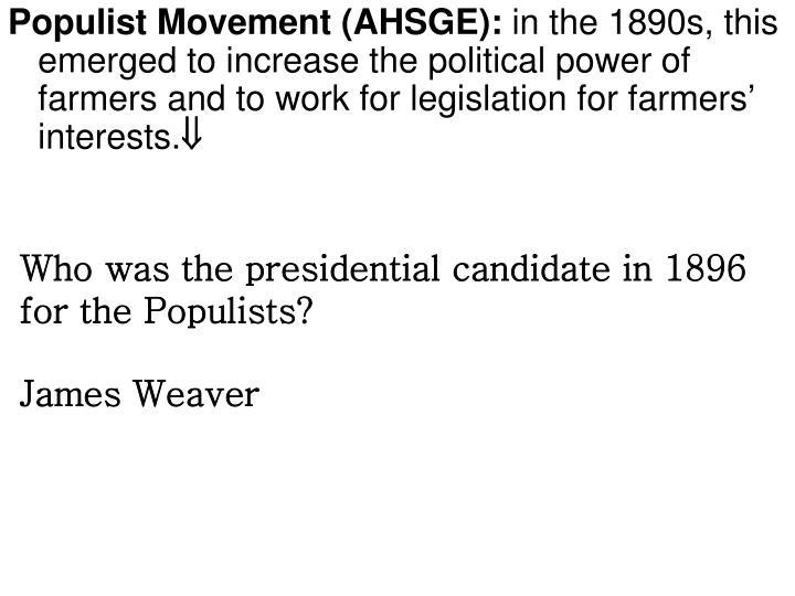 Populist Movement (AHSGE):