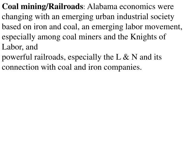 Coal mining/Railroads