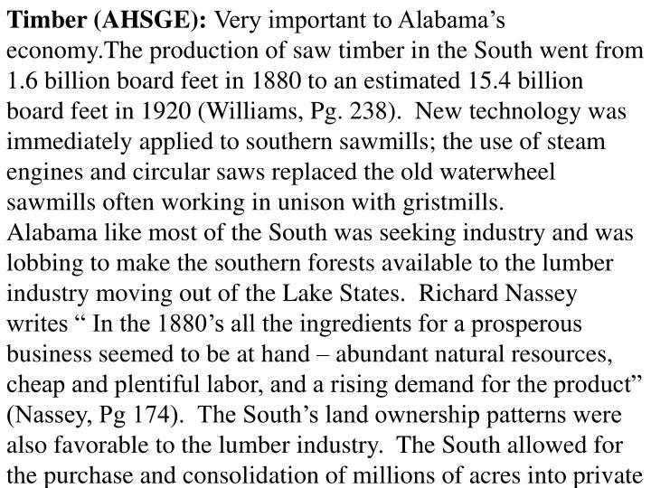 Timber (AHSGE):