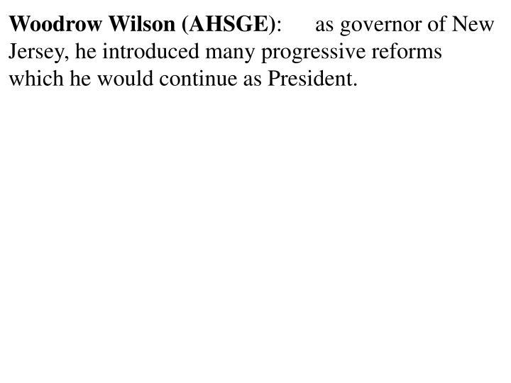 Woodrow Wilson (AHSGE)