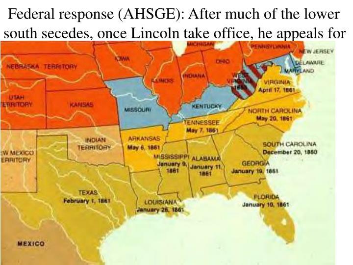 Federal response (AHSGE):