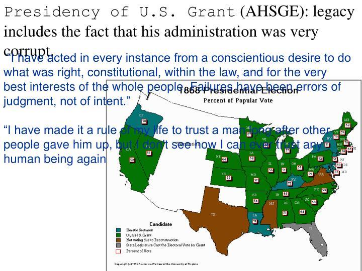 Presidency of U.S. Grant