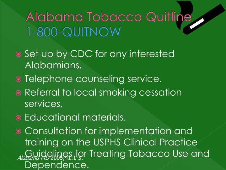 Alabama Tobacco Quitline