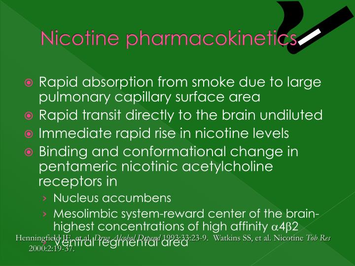 Nicotine pharmacokinetics