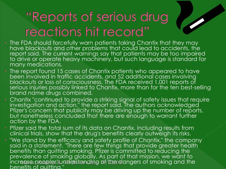 """Reports of serious drug reactions hit record"""