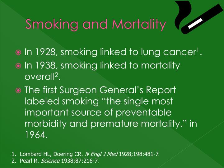 Smoking and Mortality