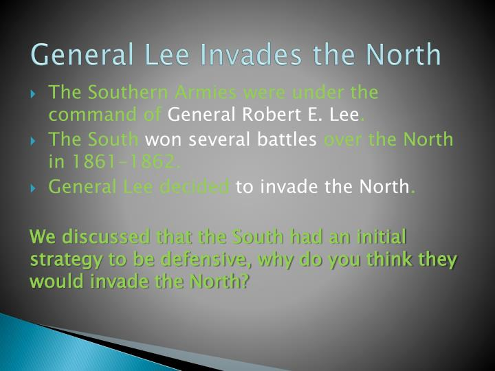 General Lee Invades the North