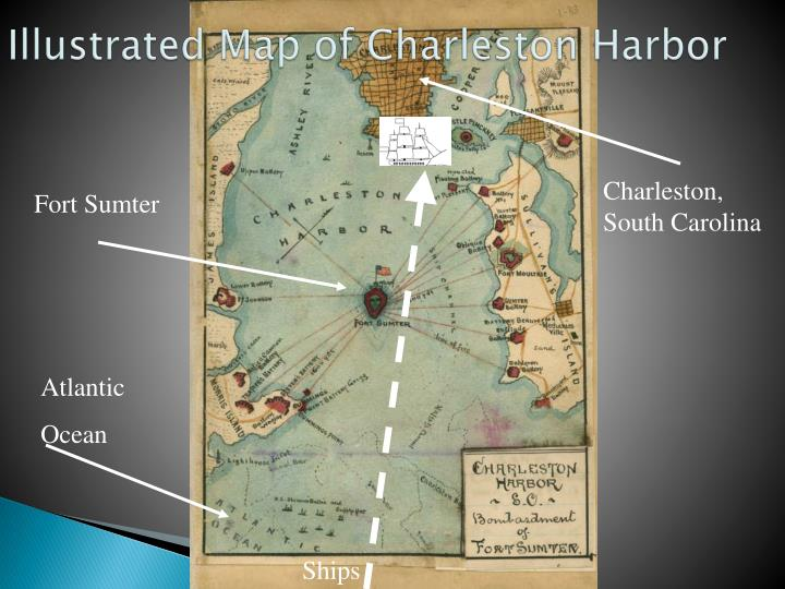 Illustrated Map of Charleston Harbor