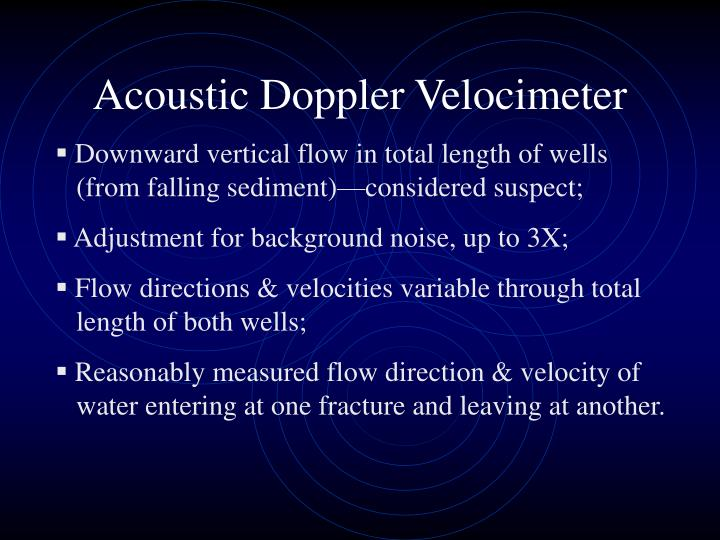 Acoustic Doppler Velocimeter