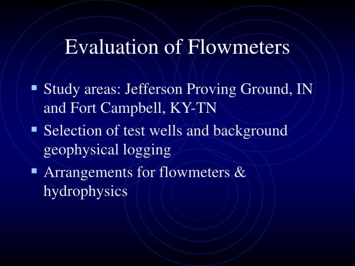Evaluation of Flowmeters