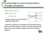 increase rigor learning expectations through connections
