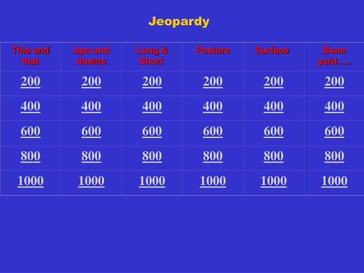 Med Term Jeopardy