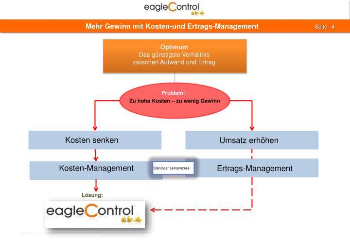 Mehr Gewinn mit Kosten-und Ertrags-Management