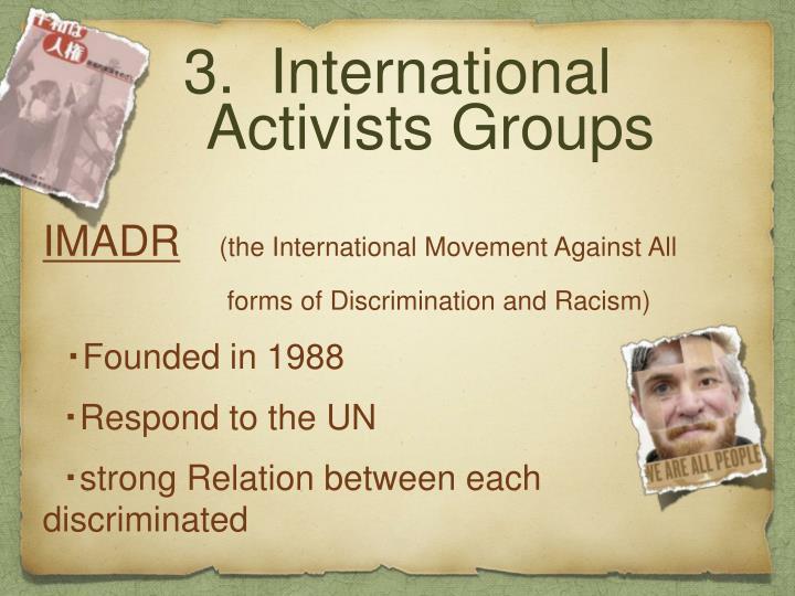 3.  International