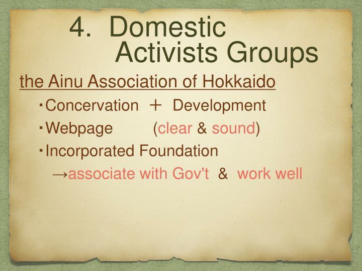 4.  Domestic