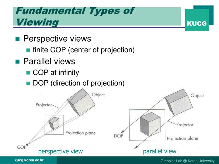 Fundamental types of viewing