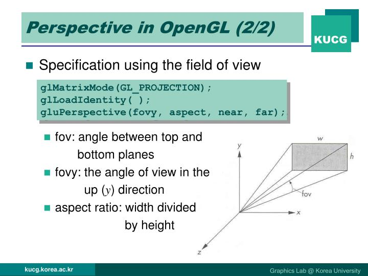 Perspective in OpenGL (2/2)