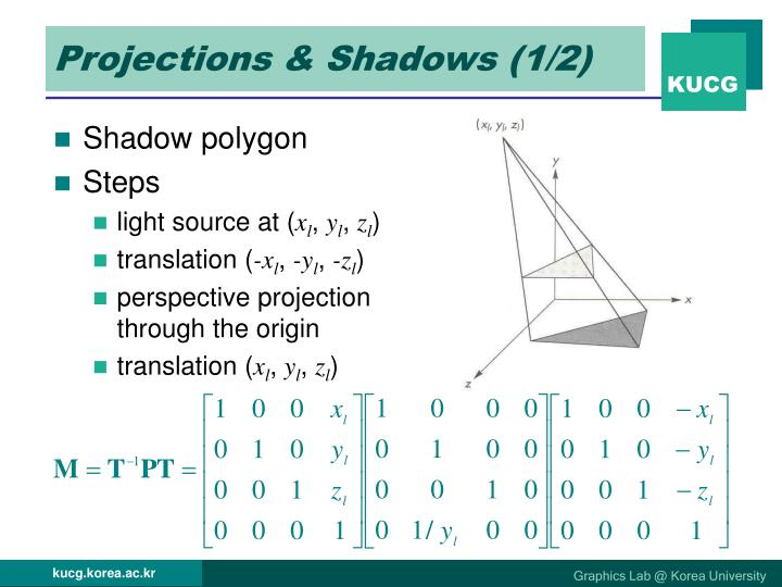 Projections & Shadows (1/2)