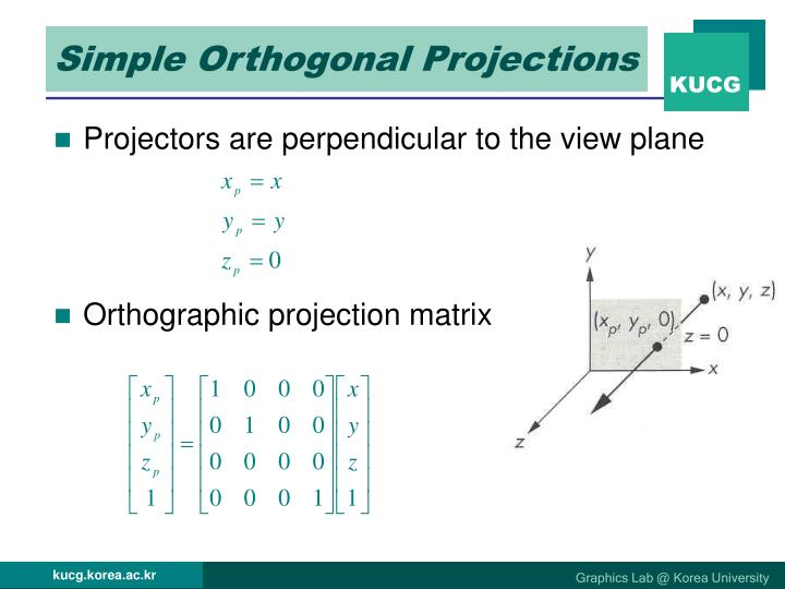 Simple Orthogonal Projections