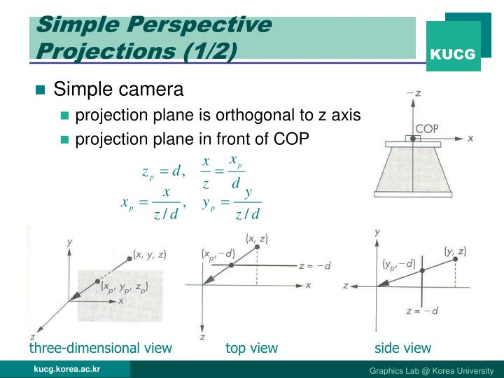 Simple Perspective Projections (1/2)