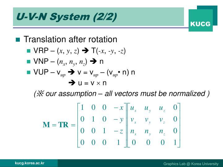 U-V-N System (2/2)