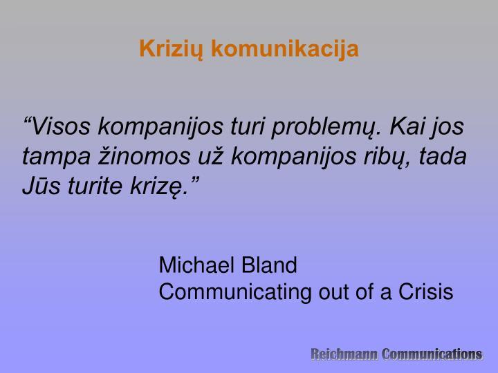 Krizių komunikacija