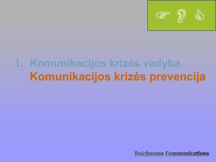 Komunikacijos krizės vadyba