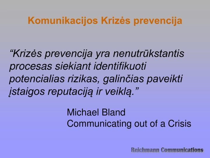 Komunikacijos Krizės prevencija