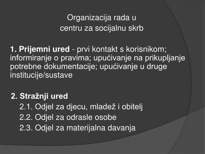 Organizacija rada u