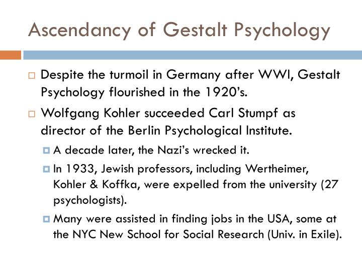 Ascendancy of Gestalt Psychology
