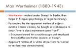 max wertheimer 1880 1943