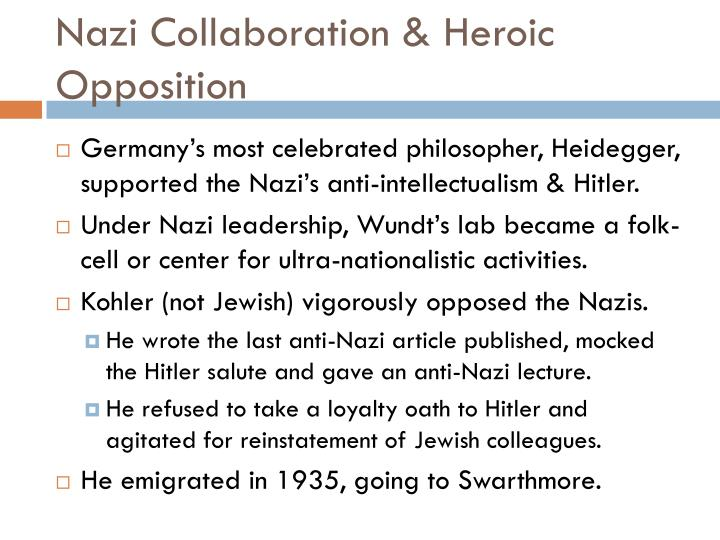 Nazi Collaboration & Heroic Opposition