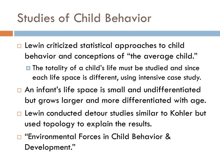 Studies of Child Behavior