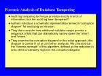 forensic analysis of database tampering