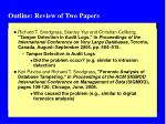 outline review of two papers