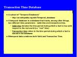 transaction time database