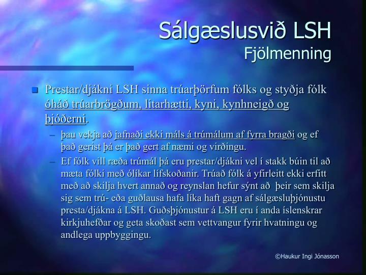 Sálgæslusvið LSH