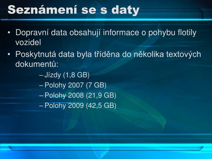 Seznámení se s daty