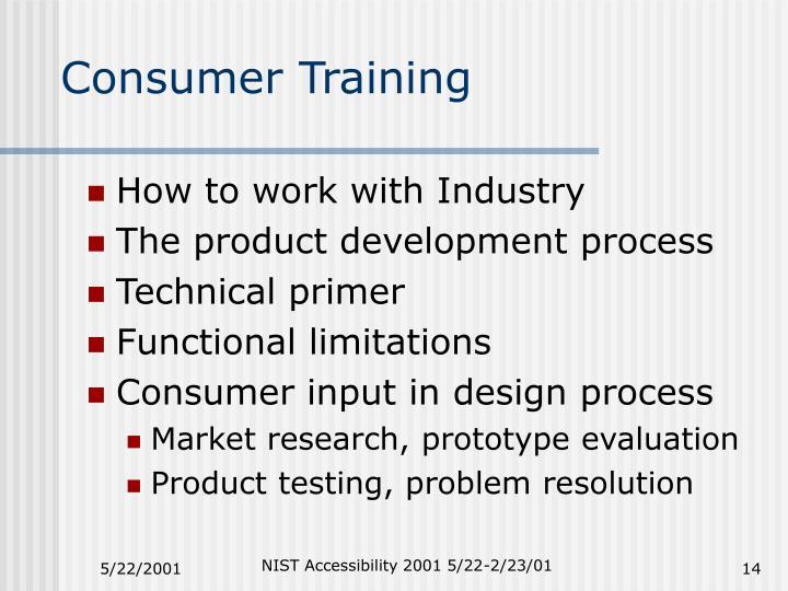 Consumer Training