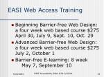 easi web access training