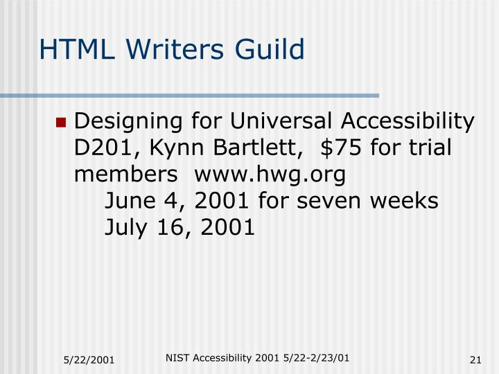 HTML Writers Guild