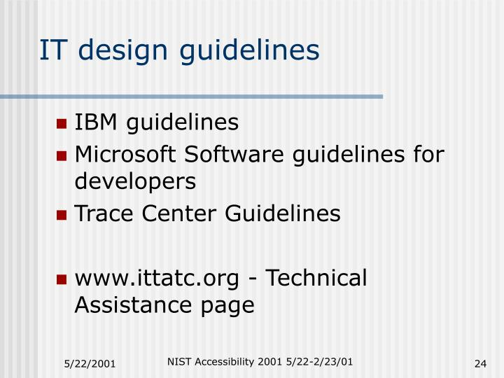 IT design guidelines