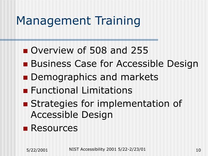 Management Training