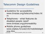 telecomm design guidelines