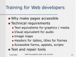 training for web developers