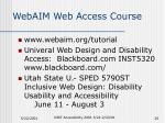 webaim web access course