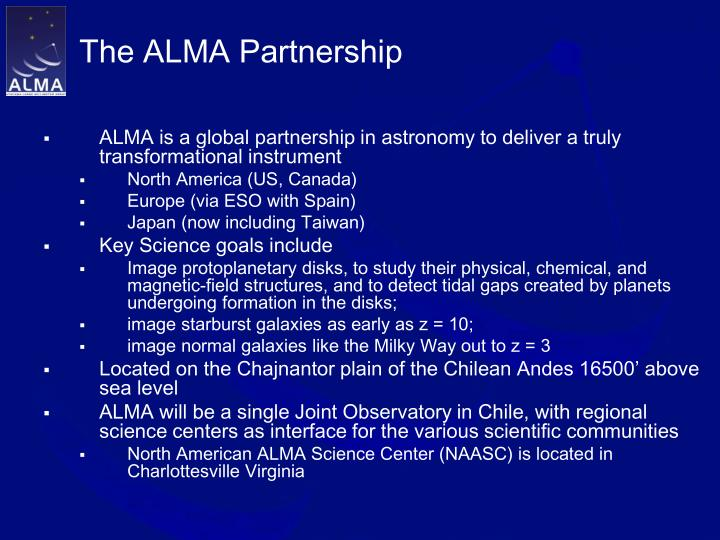 The alma partnership