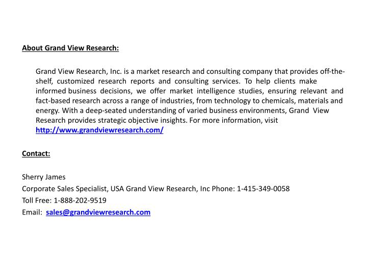 About Grand View Research: